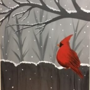 """""""Winter Red""""~ Friday Happy Hour! 12/29/17 4-6pm $20"""